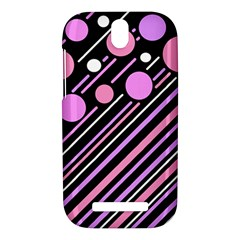 Purple transformation HTC One SV Hardshell Case