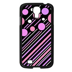 Purple transformation Samsung Galaxy S4 I9500/ I9505 Case (Black)