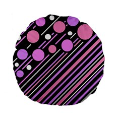 Purple transformation Standard 15  Premium Flano Round Cushions