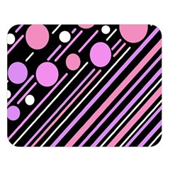 Purple transformation Double Sided Flano Blanket (Large)