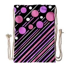 Purple transformation Drawstring Bag (Large)