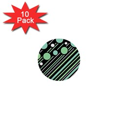 Green transformaton 1  Mini Buttons (10 pack)