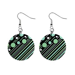 Green transformaton Mini Button Earrings