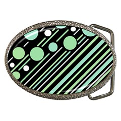 Green transformaton Belt Buckles