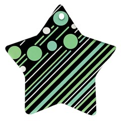 Green transformaton Star Ornament (Two Sides)