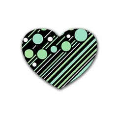 Green transformaton Rubber Coaster (Heart)