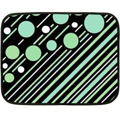 Green transformaton Double Sided Fleece Blanket (Mini)