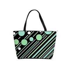 Green transformaton Shoulder Handbags