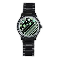 Green transformaton Stainless Steel Round Watch