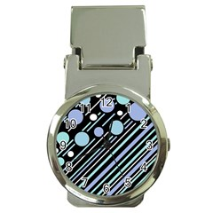 Blue transformation Money Clip Watches