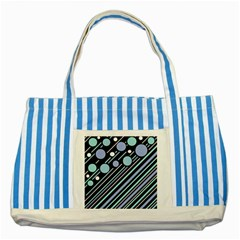 Blue transformation Striped Blue Tote Bag