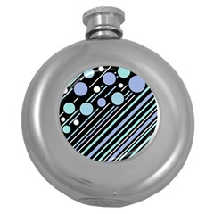 Blue transformation Round Hip Flask (5 oz)