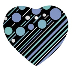 Blue transformation Heart Ornament (2 Sides)