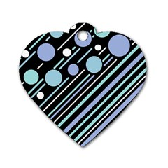 Blue transformation Dog Tag Heart (Two Sides)