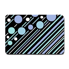 Blue transformation Small Doormat