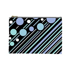 Blue transformation Cosmetic Bag (Large)