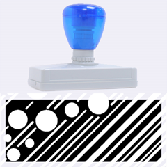 Blue transformation Rubber Address Stamps (XL)