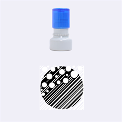 Blue transformation Rubber Round Stamps (Small)