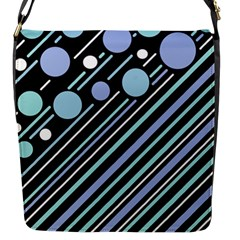 Blue transformation Flap Messenger Bag (S)