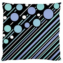 Blue transformation Large Flano Cushion Case (Two Sides)