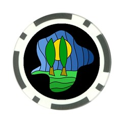 Landscape Poker Chip Card Guards