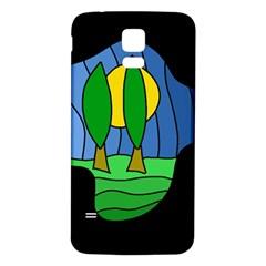 Landscape Samsung Galaxy S5 Back Case (White)