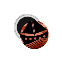 Boat - red 1.75  Magnets