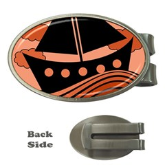 Boat - red Money Clips (Oval)