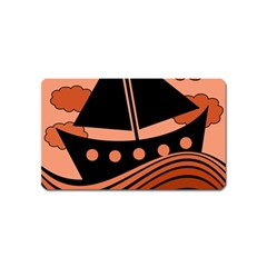 Boat - red Magnet (Name Card)