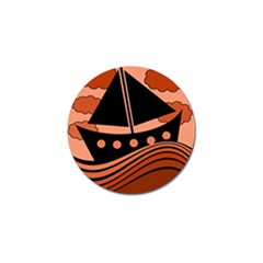 Boat - red Golf Ball Marker (4 pack)