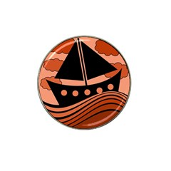Boat - red Hat Clip Ball Marker (4 pack)
