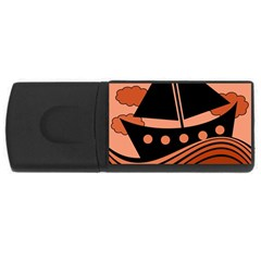 Boat - red USB Flash Drive Rectangular (4 GB)