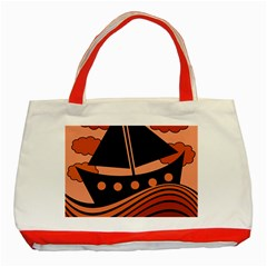 Boat - red Classic Tote Bag (Red)