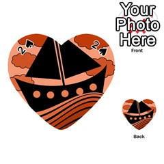 Boat - red Playing Cards 54 (Heart)