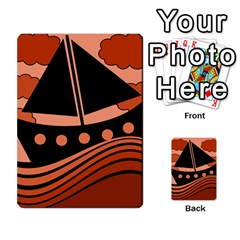 Boat - red Multi-purpose Cards (Rectangle)