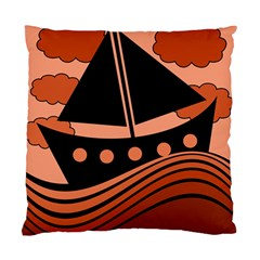 Boat - red Standard Cushion Case (One Side)