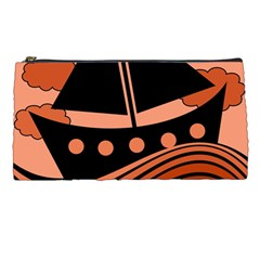 Boat - red Pencil Cases