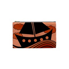 Boat - red Cosmetic Bag (Small)