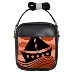Boat - red Girls Sling Bags