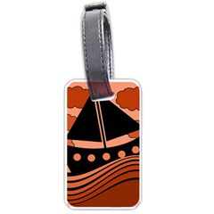 Boat - red Luggage Tags (Two Sides)