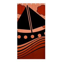 Boat - red Shower Curtain 36  x 72  (Stall)