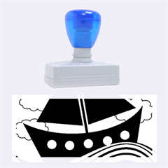 Boat - red Rubber Stamps (Large)