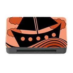Boat - red Memory Card Reader with CF