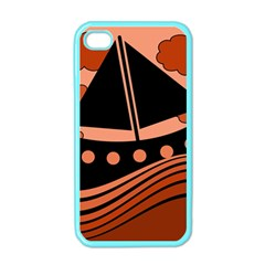 Boat - red Apple iPhone 4 Case (Color)