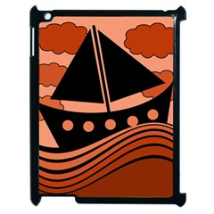 Boat - red Apple iPad 2 Case (Black)