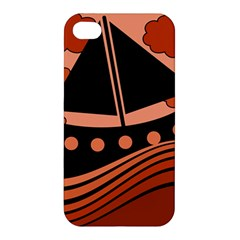 Boat - red Apple iPhone 4/4S Hardshell Case