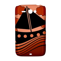 Boat - red HTC ChaCha / HTC Status Hardshell Case