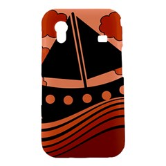 Boat - red Samsung Galaxy Ace S5830 Hardshell Case