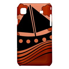 Boat - red Samsung Galaxy S i9008 Hardshell Case