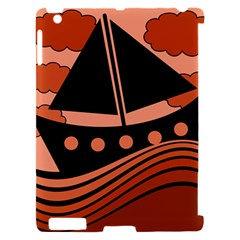 Boat - red Apple iPad 2 Hardshell Case (Compatible with Smart Cover)